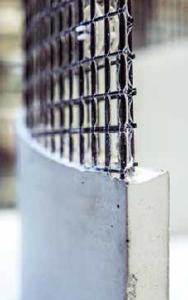 Schlanke Lösung: Abstandhalter trennen zwei Lagen Carbongitter, dazwischen kann der Beton einfließen (CCeV)