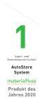 """AutoStore gewinnt Preis """"materialfluss PRODUKT DES JAHRES 2020"""" in der Kategorie Lager- und Kommissioniertechnik."""