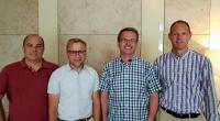 Das Gründungsteam von OpenTelematics (v.l.n.r.): Hans-Jörg Nolden, Vorstand Thomas Gräbner, Jens Uwe Tonne und Daniel Thommen / Bild: OpenTelematics e.V.