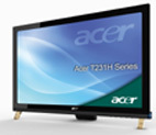Acer T231H: Neigbares 23 Zoll-LCD  mit Multitouch-Funktionalität