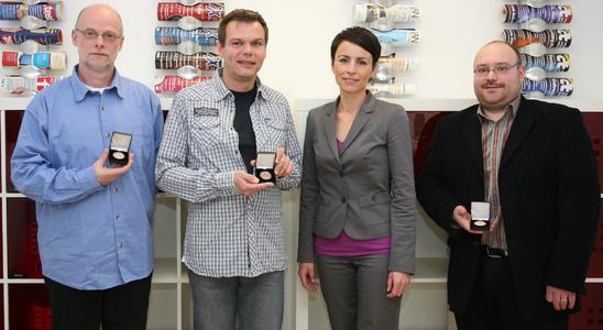 Die Gewinner: Eckhard Schneider, Stephan Schneider und Ronald Hackhausen-Kölsch (v.l.).