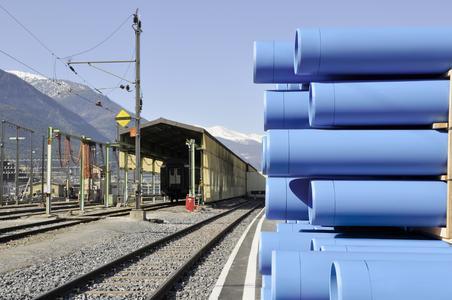 Bei der Sanierung des Simplon-Tunnels werden RAUDRIL Rail PP Rohre zur Tunnelentwässerung eingesetzt