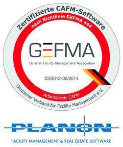 Planon wieder in allen Kategorien nach GEFMA 444 zertifiziert