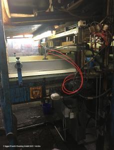 Im laufenden Betrieb wurde diese Produktionsanlage mit kalter Trocken-Druckluft und sonst nichts… gereinigt. Das KDL-Verfahren ist der Industriestandard für berührungslose Reinigung von Industrieanlagen in ganz Europa