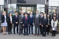 The delegation travelled through Germany for a few days and visited Obersulm, Bremen and the Hannover Messe. IDS was the only stop in Baden-Württemberg.