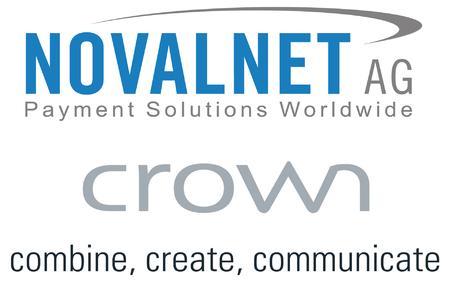 Logo-Collage Novalnet AG und Crown Software GmbH, 10 x 15 cm, 320 dpi