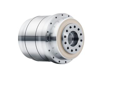 -Security through the highest hygienic standards: stainless steel Hygienic Design gearhead made by WITTENSTEIN alpha – here the HDP+ with output flange. This planetary gearhead is also available as the HDV+ with output shaft