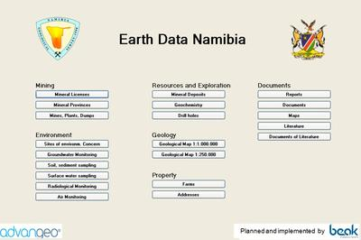 Earth Data Namibia Software presented at the 34th IGC