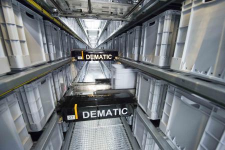 Dematic stattet die neue Siemens-Produktionsstätte in Zug mit einem Multishuttle-System aus. (Foto: Dematic)