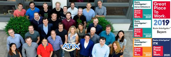 """Das Team der ATIX AG freut sich über die dritte Auszeichnung als """"Great Place to Work"""""""