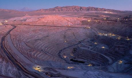 Die Kupfermine Escondida; Foto: BHP Biliton