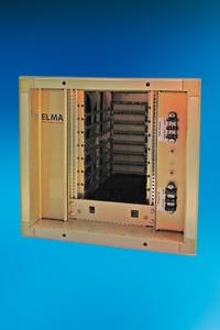 ELMA on the ISS: A 19-inch Air Transport  Rack with cPCI backplane, power supply  unit and cooling, which SAIT equipped with high-performance electronics, transmits huge data quantities back to Earth at high speeds
