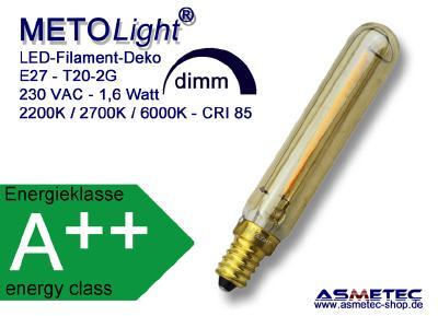 METOLIGHT LED-Bent-Filamentlampe für Deko
