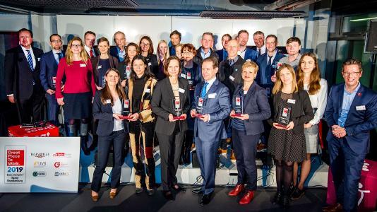orgavision wurde ausgezeichnet als einer der Besten Arbeitgeber Berlin-Brandenburg 2019