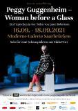 """Plakat Theaterproduktion """"Peggy Guggenheim - Woman before a Glass"""""""