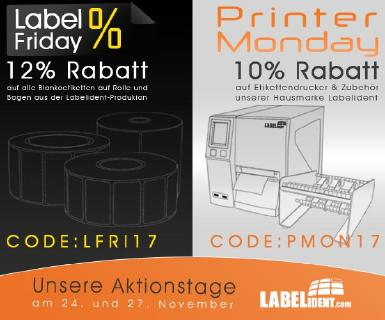 Label Friday und Printer Monday bei Labelident GmbH