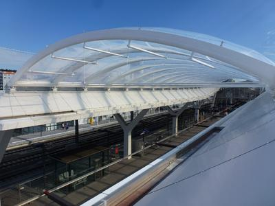 The Roof of Salzburg main station is covered with foil made of 3M Dyneon ETFE