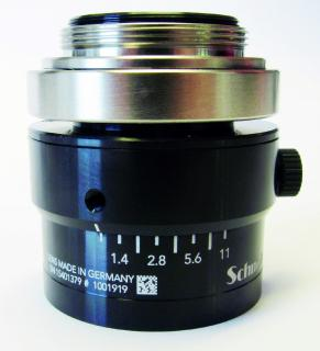 Industrial lenses from Schneider-Kreuznach now with  a DataMatrix code