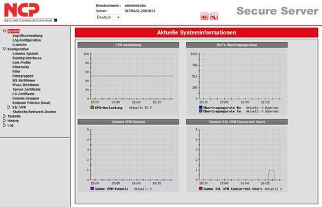 Screenshot Systeminformationen