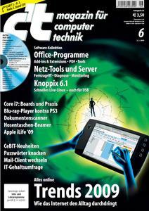 Das Titelbild der aktuellen c't-Ausgabe 06/2009