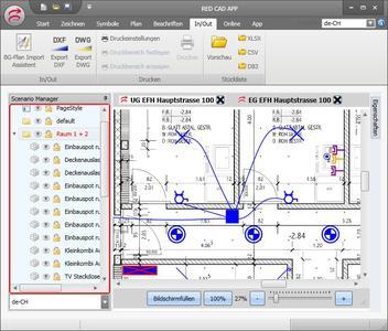 Die CAD-Software RED CAD APP importiert Bauzeichnungen nicht nur in gängigen CAD-Formaten, sondern auch im Universalformat PDF