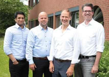 (v.l.n.r): Thulackshan Mohan, Jörg Sänger, Felix Speerli, Carsten Pauli