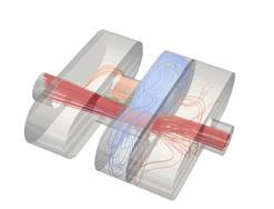 Simulation of an automotive muffler: CFD streamlines
