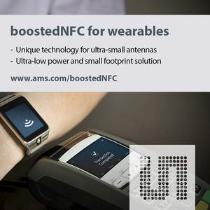 New NFC solution from ams for smart watches and other wearables enables faster, more reliable contactless payments