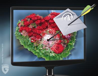 Mitten ins Herz: Gefährliche E-Mails zum Valentinstag