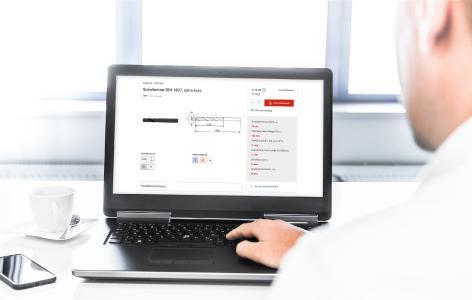 Schnell fündig werden und bestellen – der neue Online-Shop von CERATIZIT ist einfach in der Handhabung und beschleunigt den Bestellvorgang spürbar