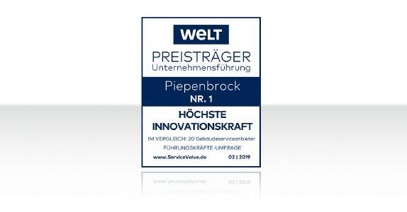 Höchste Innovationskraft im Gebäudeservice: Piepenbrock erhält Qualitätssiegel / Bild: Piepenbrock Unternehmensgruppe GmbH + Co. KG