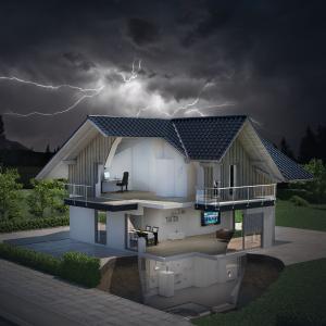 Überspannungsschutz in Wohnhäusern schirmt Geräte und Daten sicher ab