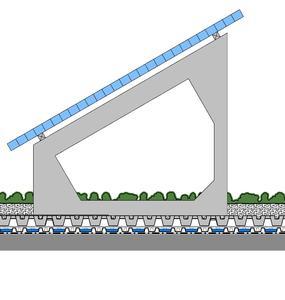 """ZinCo-Systemaufbau """"SolarVert"""" mit Fixodrain® XD 20 und Solarbasis SB® 200"""