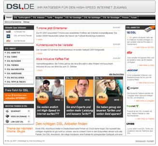 Screenshot DSL.de