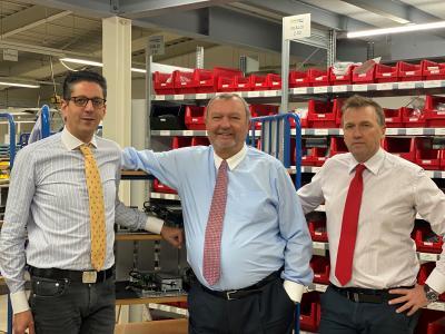 Salim Abu-Abed (Vorstand), Karl-J. Kraus (neuer Aufsichtsratsvorsitzender) und Dr. Achim Simons (neues Vorstandsmitglied) (v.l.n.r.)