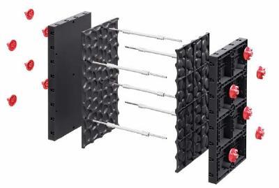 Schema der Schalung-Matrizen aus ABS-Kunststoff in Verbindung mit GEOPLAST Schalung Systeme Typ GEOPANEL