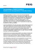 [PDF] Pressemitteilung: FEIG ELECTRONIC ermöglicht kontaktloses Bezahlen an der leistungsstärksten E-Tankstelle in Coburg