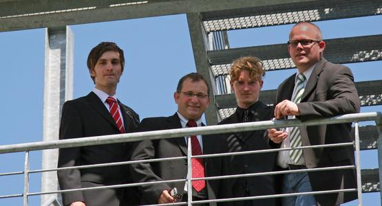 MobileSitter Team: v.l.n.r. Frederik Franke, Markus Schneider, Sven Vowé, Ruben Wolf