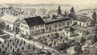 Holder Betriebs- und Wohngelände in Metzingen aus dem Jahr 1902. 2018 zieht die gesamte Firma Holder an ihren neuen Standort nach Reutlingen um / Foto: Max Holder GmbH