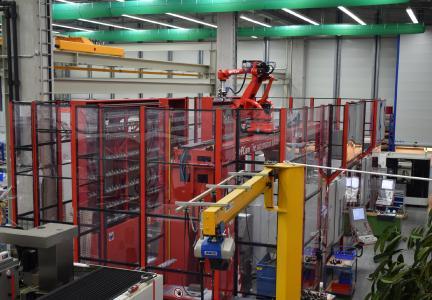 BU 2: Einzigartige Automationslösung mit Fräs-Bearbeitungszentren.