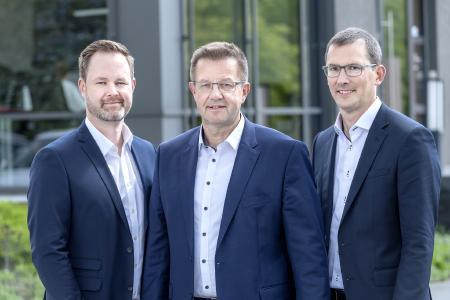 Übernehmen gemeinsam die Geschäftsführung: Von links Henk Gövert, Norbert Nobbe, Matthias Lesch
