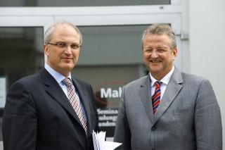 Stephan Gais und Thomas Keidel (geschäftsführende Gesellschafter der Mahr GmbH)