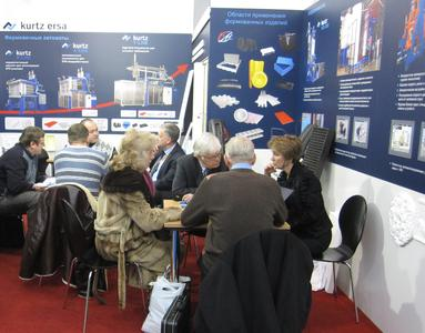 Kurtz GmbH with headquarter in Kreuzwertheim, Germany, presented themselves with their business sector particle foam machines from January 24th to 27th at the INTERPLASTICA 2012 trade fair in Moscow. The customers and prospective customers could inform themselves at the booth, designed in the new corporate identity, about the leading and engery-saving machines for the processing of particle foams.