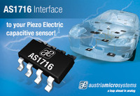 austriamicrosystems introduces a new sensor interface specifically for automotive unbiased capacitive sensors