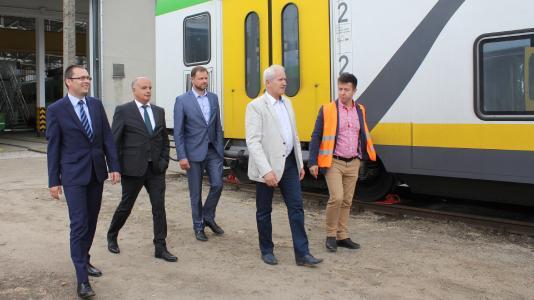 DILAX Koleje Mazowieckie media conference, train / Koleje Mazowieckie - KM sp. z o.o.