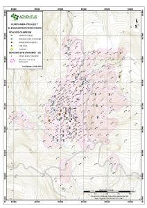 Abbildung 1: Lageplan der Bohrköpfe für die Bohrlöcher bei El Domo
