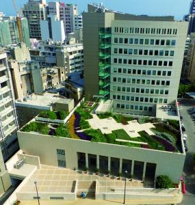 Gerade im städtischen Raum helfen die neuen Gründach-Systemaufbauten gezielt, Regenwasser zu speichern und die Umgebungstemperatur zu kühlen