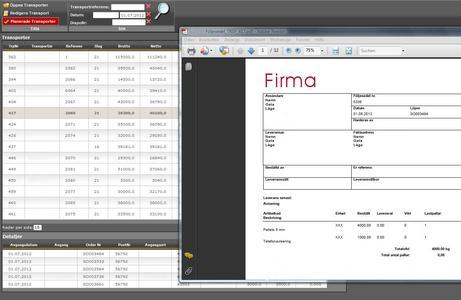 Auf Dokumente kann der Dienstleister online zugreifen und sie bei Bedarf ausdrucken (hier: Testdruck eines schwedischen Frachtbriefs) / Bild: Städtler-Logistik