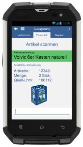 """Screenshot """"Artikel scannen"""" vom neuen Kommissionierdialog der CIM GmbH"""