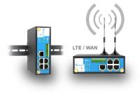 Versatile industrial 4G LTE cellular router